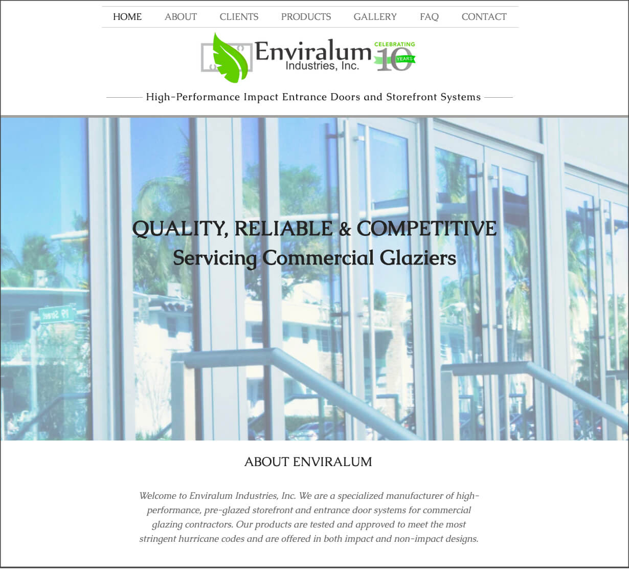 Enviralum Industries Celebrates 10 Years and Launches New Website